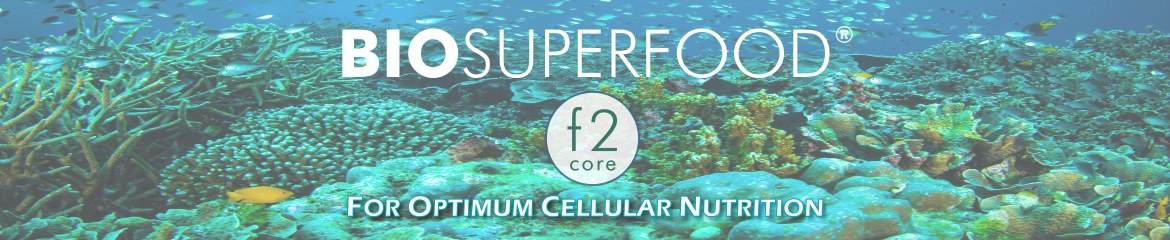 BioSuperfood F2 Core product name on natural background