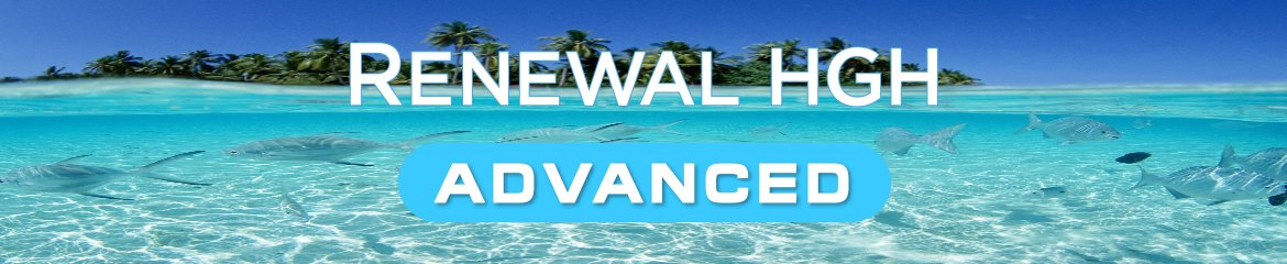 Renewal Advanced product name on natural background