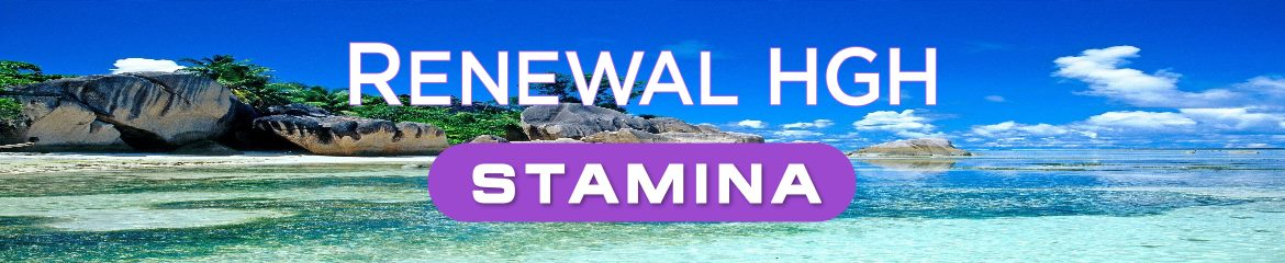 Renewal Stamina product name on natural background