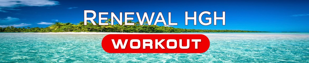 Renewal Workout For Men product name on natural background
